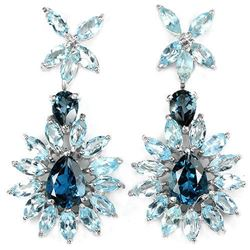 Natural  LONDON & SKY BLUE TOPAZ Earrings