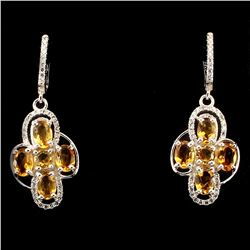 Natural  Yellow Citrine 31 Carats Earrings