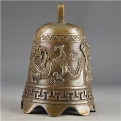 Antique Chinese Brass Dragon Bell