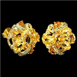 NATURAL YELLOW CITRINE OVAL Earrings
