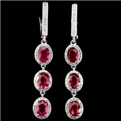 Top Rich Red Pink Ruby Earrings