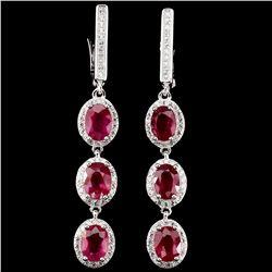 Top Rich Red Pink Ruby Earrings