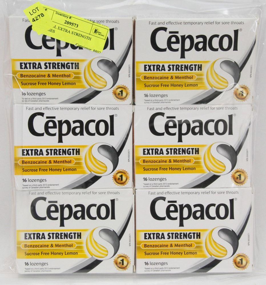 6 CEPACOL EXTRA STRENGTH LOZENGES