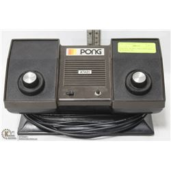 VINTAGE ATARI  PONG GAME CONSOLE WITH BUILT IN