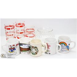 LOT OF ASSORTED COLLECTIBLE GLASSES INCL