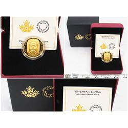 FEATURED 2014 $200 PURE GOLD COIN