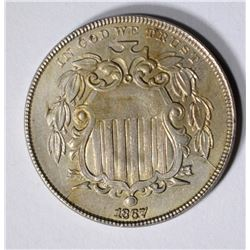 1867 SHIELD NICKEL, AU