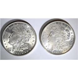 (2) CH BU 1921 MORGAN SILVER DOLLARS