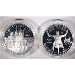 2-SILVER PROOF COMMEM DOLLARS; 1996-P WHEELCHAIR