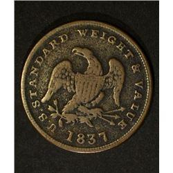 1837 HALF CENT WORTH OF PURE COPPER TOKEN