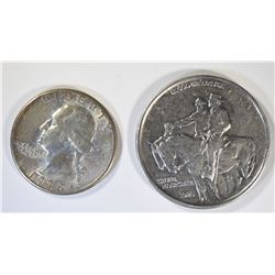 1938 QUARTER AU & 1925 STONE MOUNTAIN HALF AU