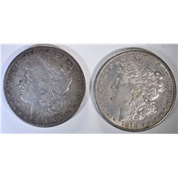 1878 REV OF 79 XF & 1878-S AU MORGAN DOLLARS