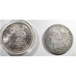 MORGANS: 1888 CH BU & 1894-S F/VF