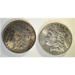 1896 & 1880-O MORGAN DOLLARS CHBU