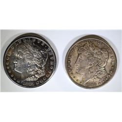 1881-S & 1898-O CH BU MORGAN DOLLARS