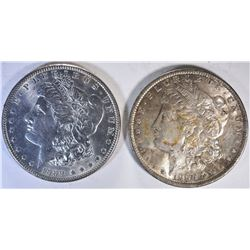 1889 & 1890 CH BU MORGAN DOLLARS