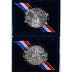 (2) 2004 Thomas Edison Unicrulated Silver Dollars.