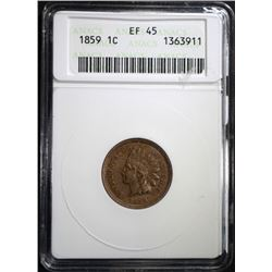 1859 INDIAN CENT ANACS EF-45