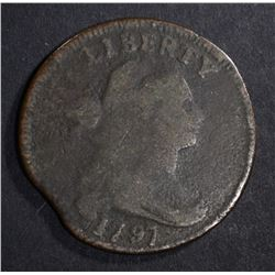 1797 DRAPED BUST LARGE CENT  VG