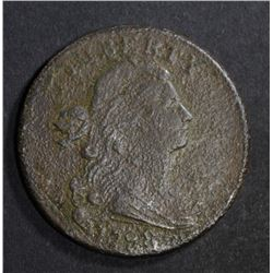 1798 DRAPED BUST LARGE CENT  VF with Porosity