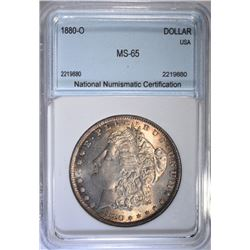 1880-O MORGAN DOLLAR NNC GEM BU