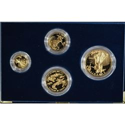 1992 GOLD AMERICAN EAGLE 4pc SET