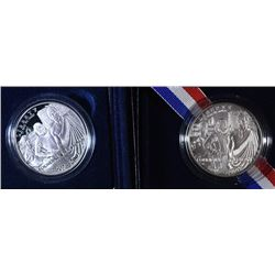 (2) 2007 Jamestown Silver Dollars