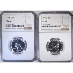 1961 & 1962 WASHINGTON QTRS NGC