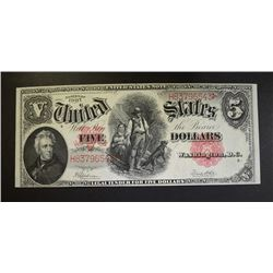 1907 $5 LEGAL TENDER UNITED STATES NOTE