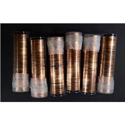 6-BU MIXED DATE ROLLS OF SMS LINCOLN CENTS