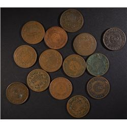 14-AVE CIRC 2-CENT PIECES