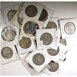 $10 MIX OF WALKING LIBERTY & FRANKLIN HALVES CIRC