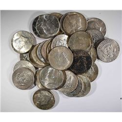 $15.00 FACE VALUE 90% SILVER KENNEDY HALVES