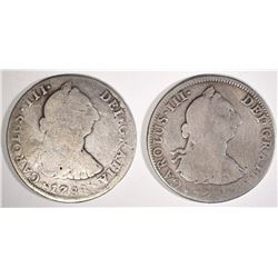 1788 & 1 NO DATE MEXICO 4 REALES