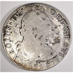1789 MEXICO 8 REALES chopmarked