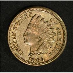 1864 INDIAN HEAD CENT  AU-UNC