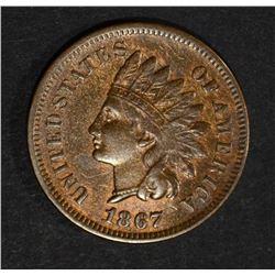 1867 INDIAN HEAD CENT  AU