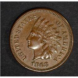 1868 INDIAN HEAD CENT  CH BU
