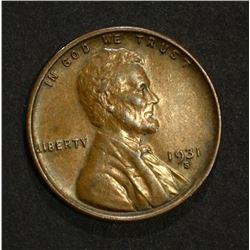 1931-S LINCOLN CENT  CH BU