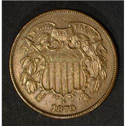 1870 TWO-CENT PIECE  AU