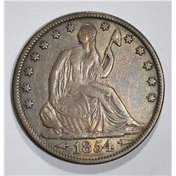 1854-O SEATED LIBERTY HALF DOLLAR  XF-AU