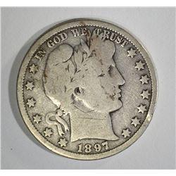 1897-O BARBER HALF DOLLAR  VG