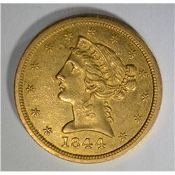 1844-O $5 GOLD LIBERTY  BU