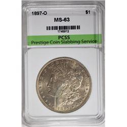 1897-O MORGAN SILVER DOLLAR, PCSS CH BU