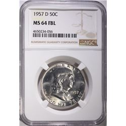 1957-D FRANKLIN HALF DOLLAR NGC