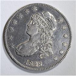 1828 BUST QUARTER  NICE AU