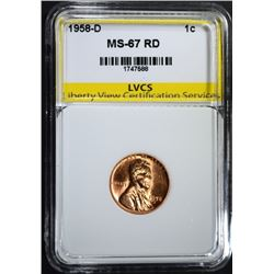 1958-D LINCOLN CENT LVCS SUPERB GEM
