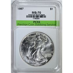1987 AMERICAN SILVER EAGLE PCSS PERFECT