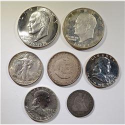 COLLECTORS COIN LOT: QUARTER, HALVES, & DOLLARS