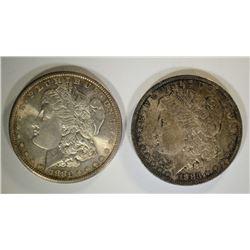 1883-O & 1881-S MORGAN DOLLARS CHBU